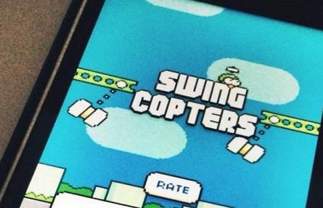 gameplay of Swing Copters